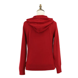 Womens Wool Knit Parka Ladies