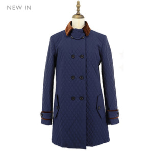 Womens Woven Coat 06 / Navy Ladies