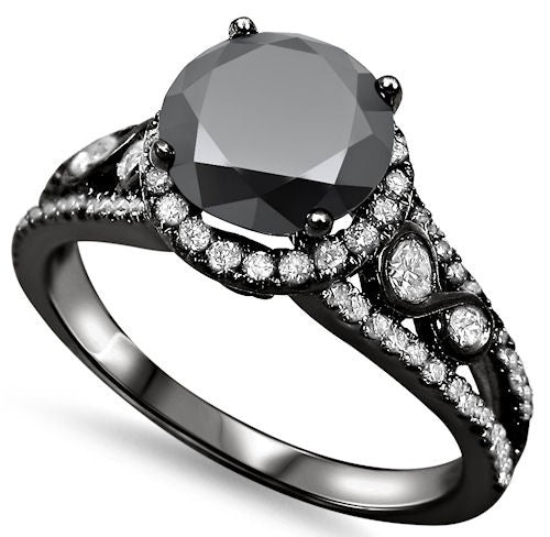 Gothic Wedding Rings.Gothic Diamond Engagement Ring
