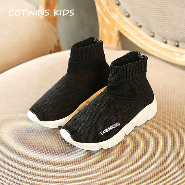 ... KIDS Fashion Trainer Baby Boy High Top Sneaker Toddler Girl Brand Sport  Shoe d80f55ac8dd9