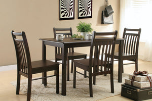 Dining Table 00860 - Serra Cappuccino Finish Dining Table with 4 Chairs