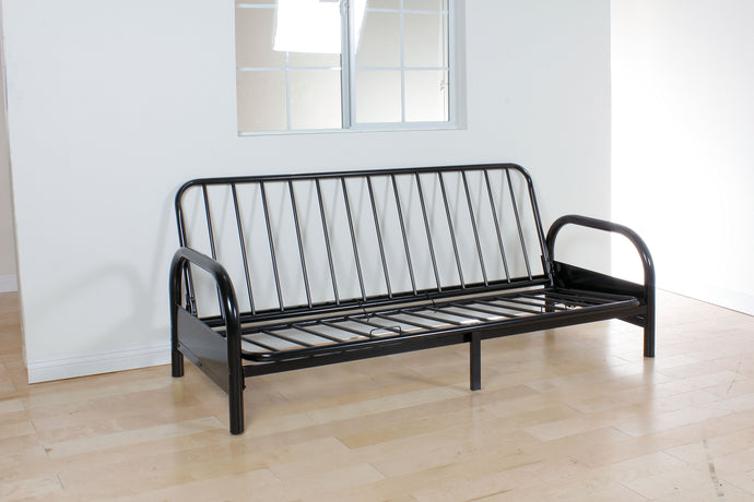 02172A-BK Convertible Sofa Frame - Alfonso Contemporary Style Black Finish Full Size Convertible Sofa Frame