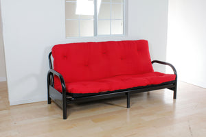 "02812 Futon Mattress - Nabila Traditional Style Red and Black Finish 8"" Full Size Futon Mattress Only"