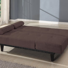05855W-BR Adjustable Sofa Bed - Cybil Microfiber Brown Finish Contemporary Style Adjustable Sofa Bed