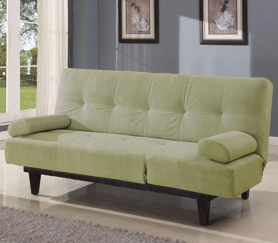05855W-SA Adjustable Sofa Bed - Cybil Microfiber Apple Green Finish Contemporary Style Adjustable Sofa Bed