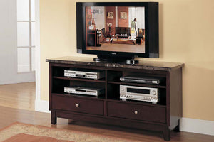 07093 Danville Marble Top TV Stand
