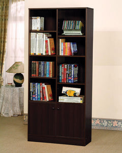12102 Espresso Finish Bookshelf Cabinet