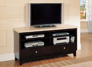 17093 Britney Marble Top TV Stand