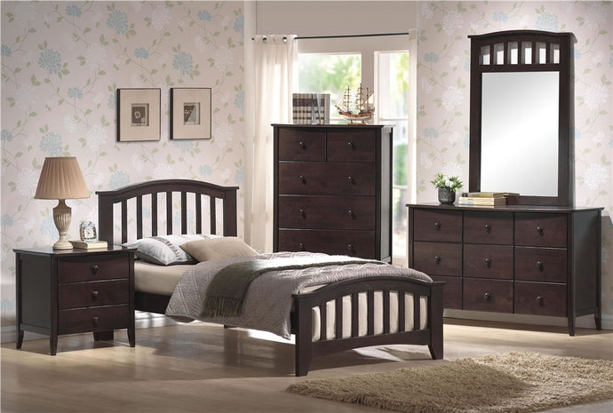 04980 San Marino Walnut Twin Bed