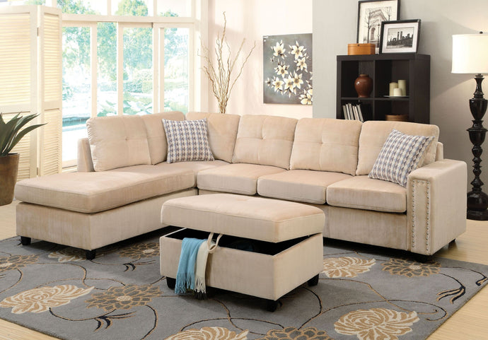 52705 - Belville Beige Reversible Sectional