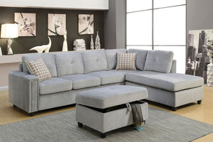 52710 - Belville Gray Reversible Sectional