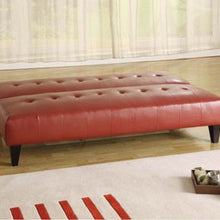 05856 Adjustable Sofa Bed - Conrad Red Bycast PU Contemporary Style Adjustable Sofa Bed