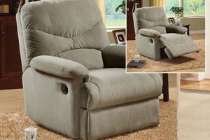 00630 Recliner Chair - Oakwood Sage Finish Microfiber Recliner Chair