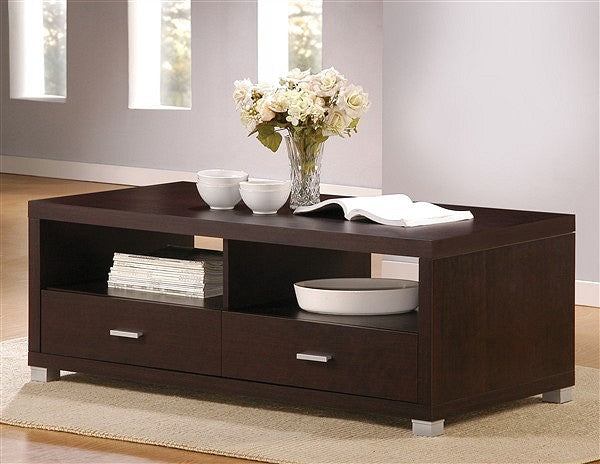 06612 Coffee Table - Redland Contemporary style Espresso Finish Coffee Table