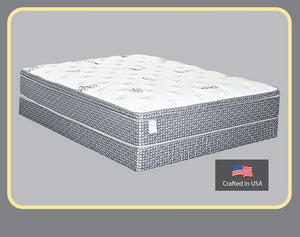 "838 Maxim Midnight Foam Encased Euro Pillow Top 13"" Queen Mattress"