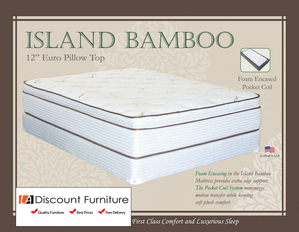 844 Maxim Island Bamboo Euro Pillow Top Pocket Coil 13