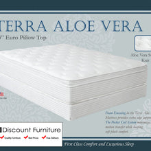 "847 Maxim Terra Aloe Vera Euro Pillow Top 13"" Queen Mattress"