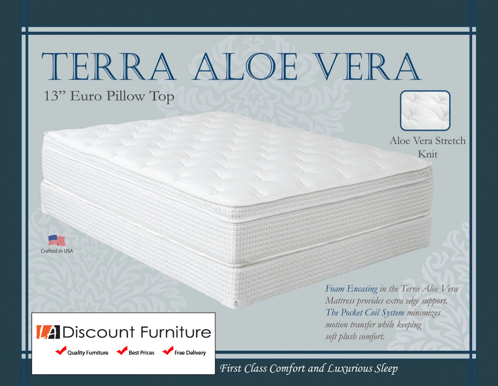 847 Maxim Terra Aloe Vera Euro Pillow Top 13