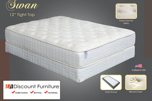 "853 Maxim Swan Pocket Coil Memory Foam 12"" Queen Mattress"