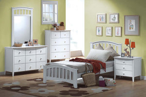 09150 San Marino White Twin Bed