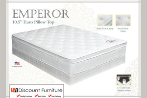 "930A Maxim Emperor Euro Pillow Top Innerspring 10.5"" Queen Mattress"