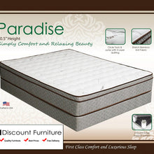 "942 Maxim Paradise Euro Pillow Top Innerspring 10.5"" Queen Mattress"