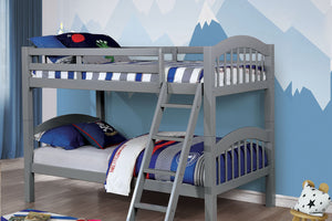 CM-BK524GY - Coney Island Twin over Twin Bunk Bed