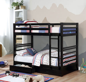 CM-BK588T-BK - California IV Twin/Twin Bunk Bed with 2 Drawers
