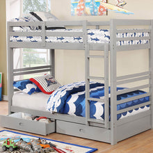 CM-BK588T-GY - California IV Twin/Twin Bunk Bed with 2 Drawers