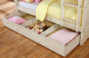 CM-BK635WH-TT-BED - Hermine Twin over Twin Bunk Bed