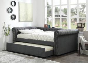 CM1027GY-Q - Leanna Grey Queen Daybed with Trundle