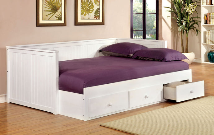 CM1927WH - Wolford White Full Daybed with Drawers