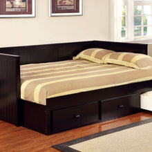 CM1927BK Full Daybed - Wolford Cottage Style Black Daybed with Drawers