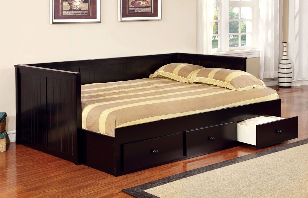 CM1927BK - Wolford Black Full Daybed with Drawers