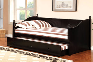 CM1928BK - Walcott Black Twin Daybed with Trundle