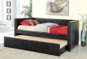 CM1955BK - Cadiz Black Twin Daybed with Trundle