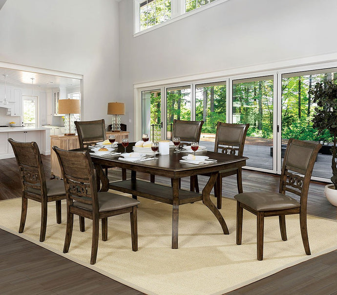 CM3023T - Holly Wood Top Dining Table Set