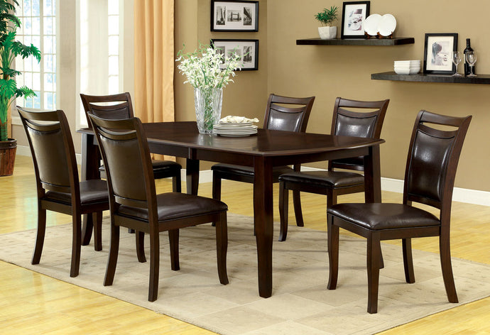 7-Piece Dining Table Set CM3024T Woodside Dining Table with 6 Chairs