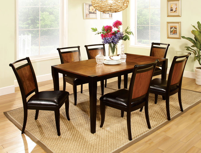 7-Piece Dining Table Set CM3034T - Salida Acacia Wood Dining Table + 6 Chairs