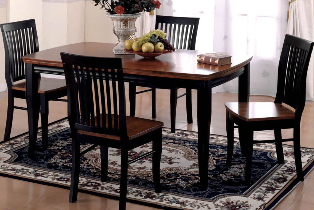 Dining Table CM3101T - Earlham Oak & Black Finish Dining Table with 4 Chairs