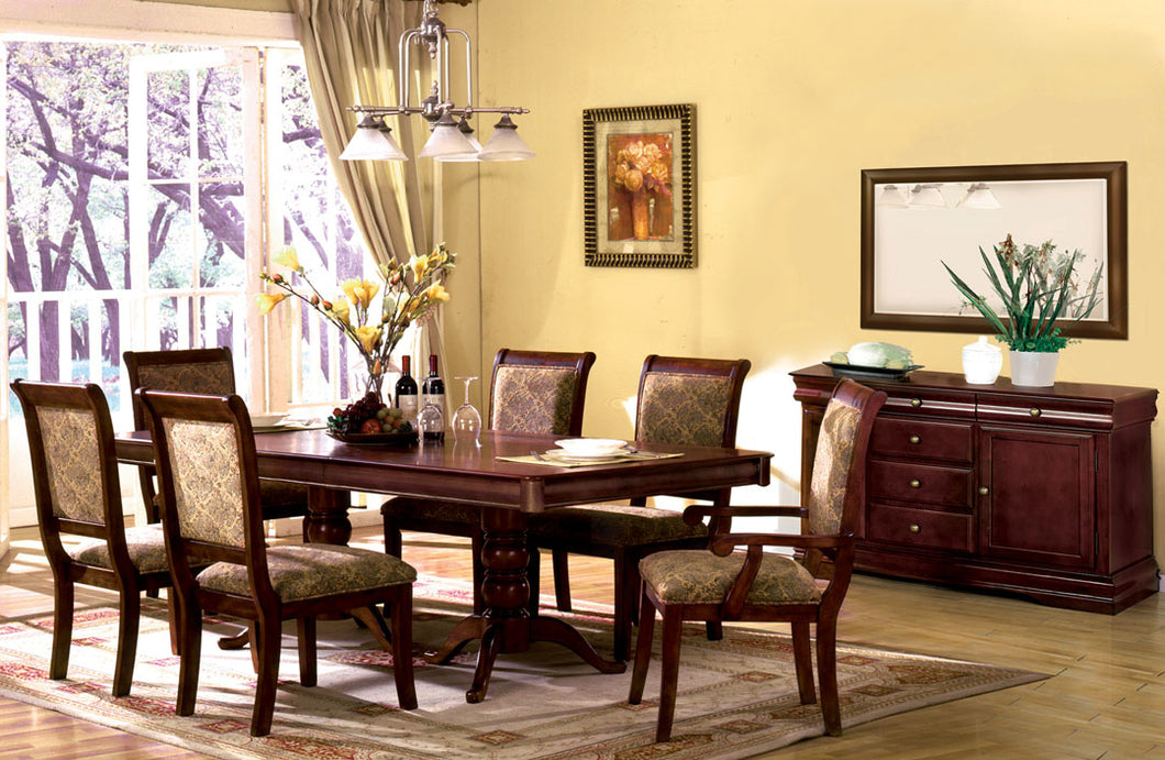 Formal Dining Set CM3224T - Nicholas Antique Cherry Dining Table + 6 Chairs