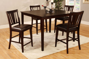 CM3325PT-5PK - Bridegette Counter Height Table with 4 Chairs