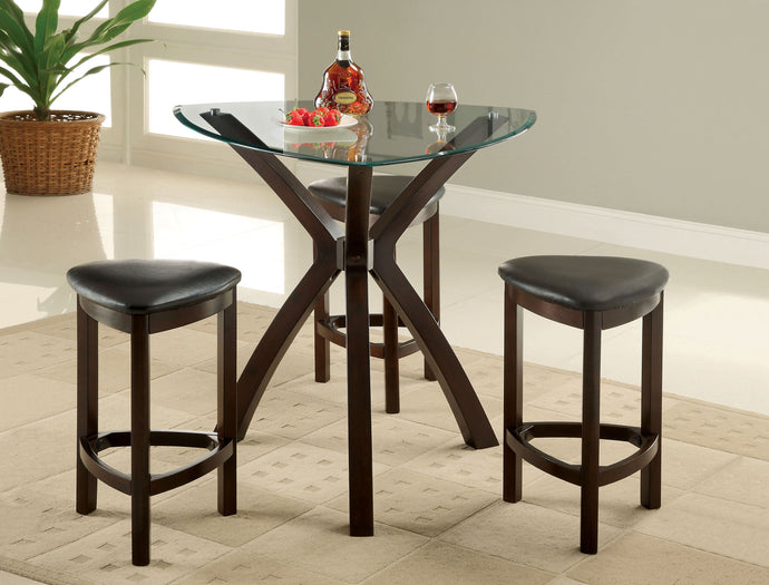 CM3335PT-4PK - Xanti Counter Height Dining Table with 3 Stools