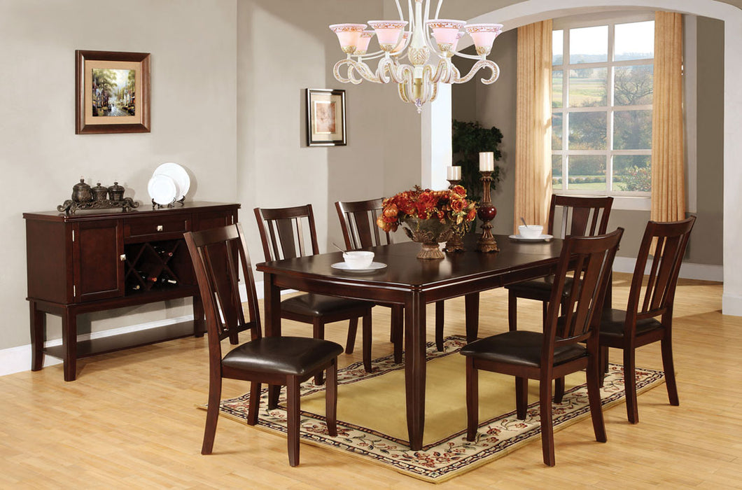 7-Piece Dining Table Set CM3336T - Edgewood Dining Table with 6 Chairs