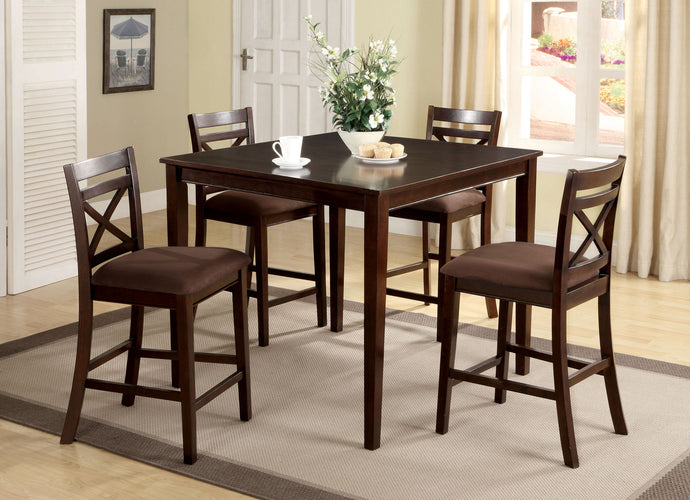 5PC Counter Height Dining Set CM3400PT Weston Counter Height Table with 4 Chairs