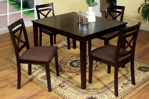 5-Piece Dining Table Set CM3400T - Weston Dining Table with 4 Chairs