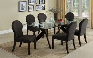 CM3425T Grand View Glass Top Dining Table Set