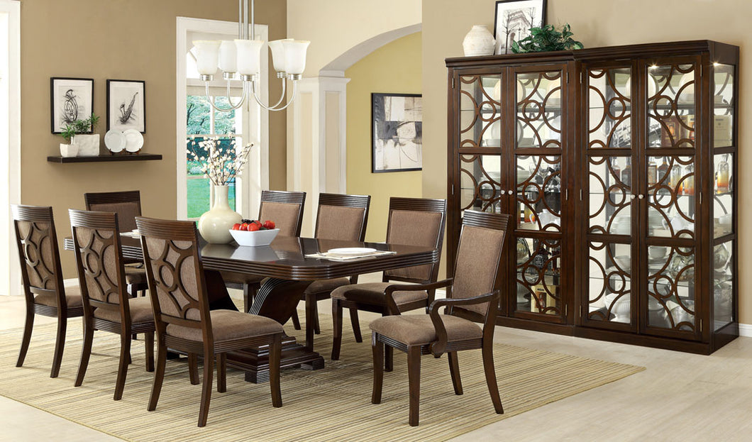 Formal Dining Set CM3663T - Woodmont Walnut Finish Dining Table with 6 Chairs