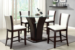 CM3710PT Manhattan Height Table + 4 White Chairs
