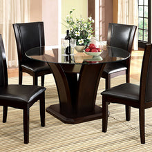 Dining Table CM3710RT - Manhattan Dark Cherry Dining Table with 4 Black Chairs